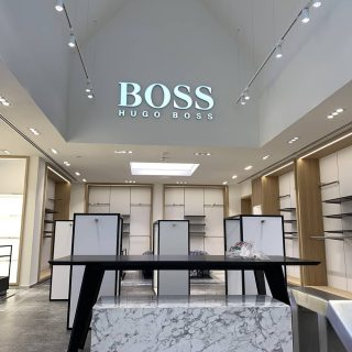 New flagship store for German luxury fashion house Hugo Boss.